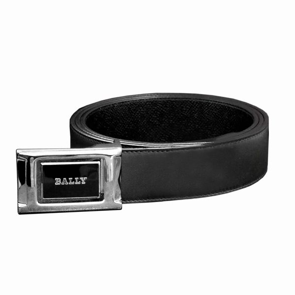 BALLY バリー ベルト BLACK CALF PLAIN 6184665 ブラック(ツヤ無)×ブラック(型押し)