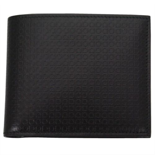 FERRAGAMO サルヴァトーレ フェラガモ 財布サイフ 二つ折り財布 66-9148-01 ブラック
