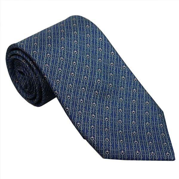 GUCCI グッチ ネクタイ 8.5cm ストライプ柄 ブルー系 320377 4B001 4369
