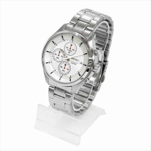 SEIKO セイコー 腕時計 クォーツ クロノグラフ SKS535P ホワイト×シルバー