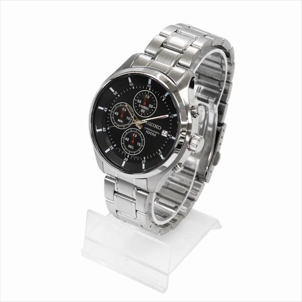 SEIKO セイコー 腕時計 クォーツ クロノグラフ SKS539P ブラック×シルバー