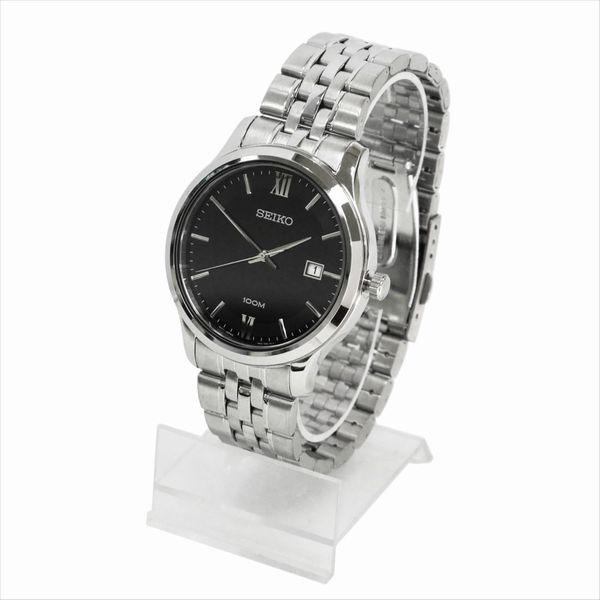 SEIKO セイコー 腕時計 クォーツ SUR221P ブラック×シルバー