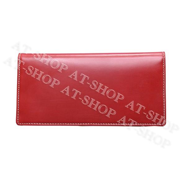 【あす楽】ブリティシュグリーン BRITISH GREEN 財布 ブライドルレザー長財布 10020006 レッド