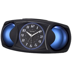 【当店は4980円以上で送料無料】リズム時計 バトルMAX X 4RA482SR02 ブラック 2個セット