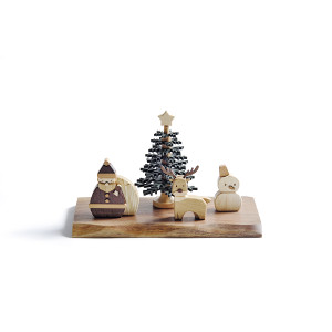【クーポン獲得】【当店は4980円以上で送料無料】ササキ工芸 ウッディクリスマス 3個セット