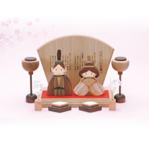 【当店は4980円以上で送料無料】ササキ工芸 木製ひな人形DXセット(桐箱入り)