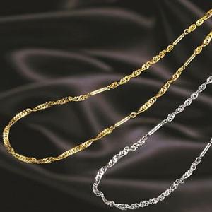 【当店は4980円以上で送料無料】オシャレ磁気ネックレス スクリュウタイプ ゴールド 3個セット