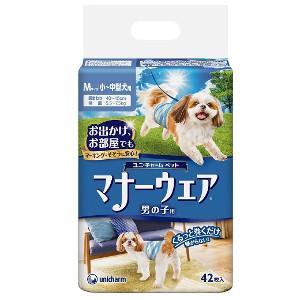 【4980円以上送料無料】ユニチャーム マナーウェア 男の子用 Mサイズ 小-中型犬用 42枚【マナーウェア】 8個セット※メーカー都合によりパッケージ、デザインが変更となる場合がございます