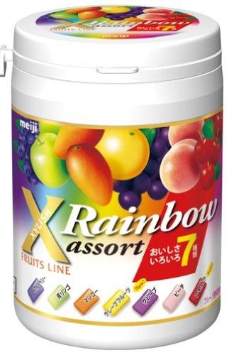 【送料込】 明治 キシリッシュレインボーアソートボトル 117g ×48個セット (お菓子・食品・ガム)