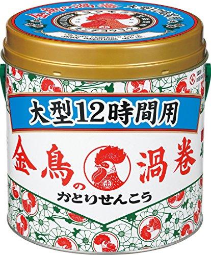 大日本除虫菊・金鳥 金鳥の渦巻 大型 12時間用 40巻入 缶入り ×12個セット