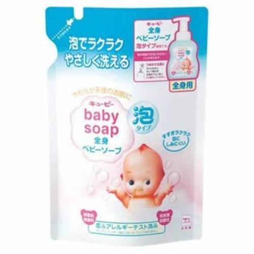 デリケートな赤ちゃんのお肌を守る安心のブランド。低刺激・弱酸性・無着色・無香料。/4901525956505/ 【送料込】牛乳石鹸 キューピー 全身ベビーソープ 泡タイプ 詰替え 350ml 1個