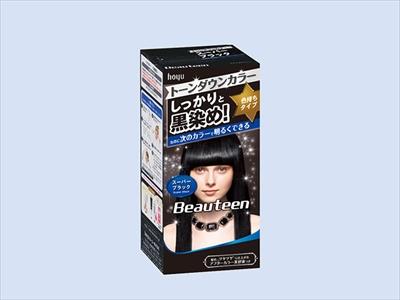 【送料込】 ホーユー ビューティーン トーンダウンカラー スーパーブラック ×27個セット