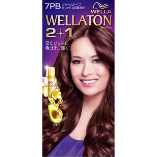 【送料込・まとめ買い×24個セット】 ウエラ Wella ウエラトーン ツープラスワン 2+1 クリームタイプ 7PB 1セット