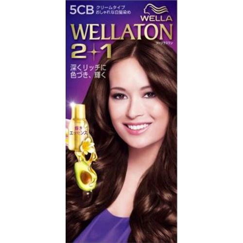 【送料込・まとめ買い×24個セット】 ウエラ(Wella) ウエラトーン ツープラスワン(2+1) クリームタイプ 5CB 1セット