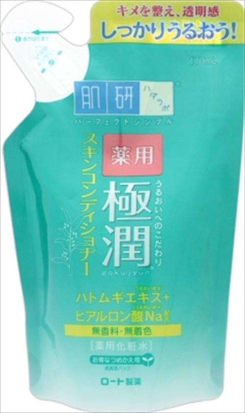 ロート製薬 肌研 ハダラボ 薬用極潤スキンコンディショナー 詰替え 170ml ×24個セット