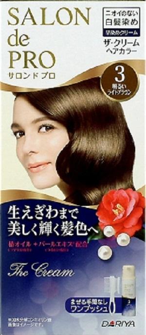 ダリヤ サロンドプロ ザ・クリームヘアカラー 白髪用 3 明るいライトブラウン ×24個セット