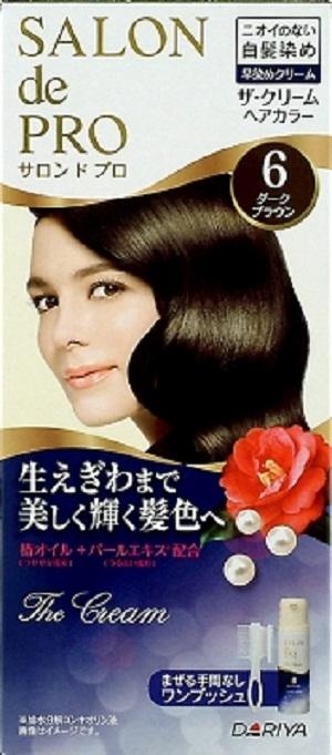 【送料込】 ダリヤ サロンドプロ ザ・クリームヘアカラー 白髪用 6 ダークブラウン ×24個セット
