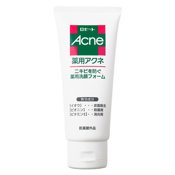 まとめ買い/医薬部外品/ニキビのもとになる皮脂を取り除き、殺菌剤・消炎剤で肌を清潔に。ニキビを防ぐ薬用洗顔フォームです。/4901696105115/送料無料/ ロゼット薬用アクネ 洗顔フォーム 130g ×48個セット