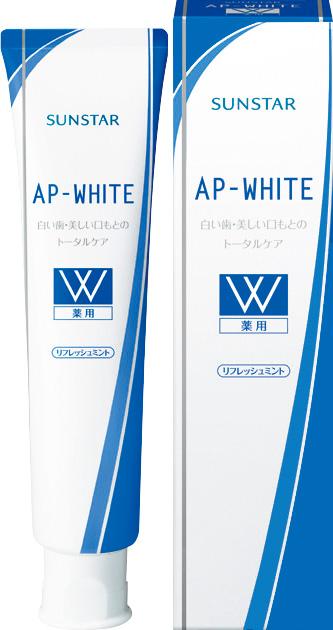 【送料込】 サンスター 薬用APホワイト リフレッシュミント 110g ×80個セット 【歯の美白】