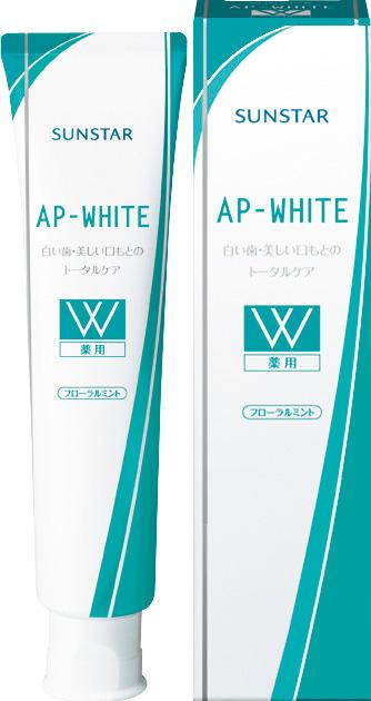 【送料込】 サンスター 薬用APホワイト ペースト フローラルミント 110g ×80個セット 【歯の美白】
