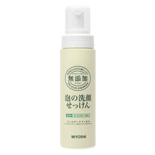 ミヨシ石鹸 無添加 泡の洗顔せっけんポンプボトル 200ml ×24個セット