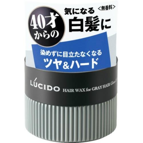 【送料込・まとめ買い×36個セット】 ルシード 白髪用 ワックス グロス & ハード 80g入 1個