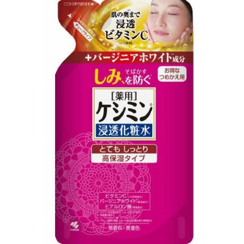 【送料込・まとめ買い×28個セット】 小林製薬 ケシミン 浸透化粧水 とてもしっとり 詰替え140ml 1個