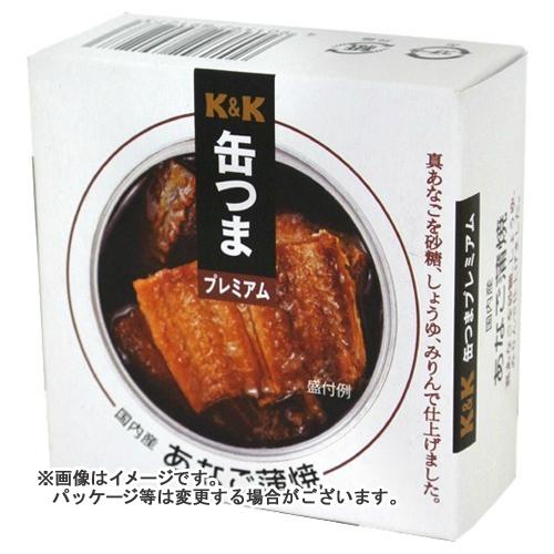 【送料無料】 国分 KK 缶つまプレミアム 国内産あなご蒲焼F3号 80g×24個セット