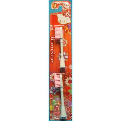 【送料無料・まとめ買い×240個セット】ミニマム 電動歯ブラシ用 替ブラシ 和柄 キティ 赤 BRT-1R (JKT) 2本入 1個