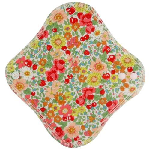 【送料無料・まとめ買い×24個セット】fuwako 幸せの布ナプキン ライナー ブロード 花赤
