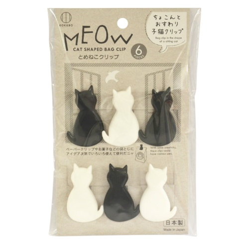 子猫の形をしたクリップ/4956810804313/送料無料/ 【送料無料・まとめ買い×120個セット】小久保工業所 とめねこ クリップ 6個入 1個