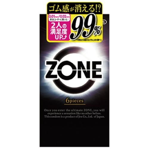 【送料無料・まとめ買い×120個セット】ジェクス コンドーム ZONE ゾーン 6個入 1個