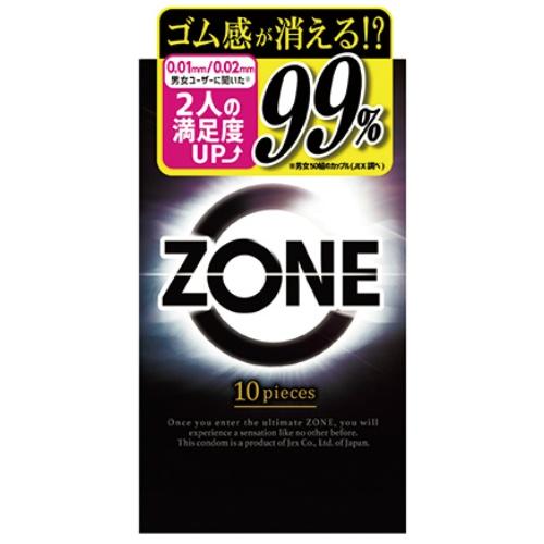 【送料込・まとめ買い×120個セット】ジェクス コンドーム ZONE ゾーン 10個入 1個