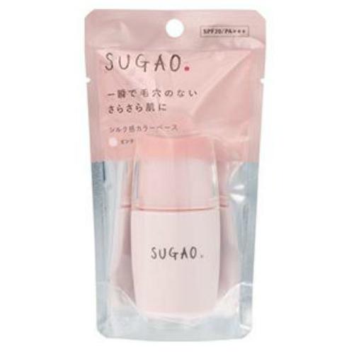 【送料無料・まとめ買い×36個セット】ロート製薬 SUGAO シルク感 カラーベース ピンク 20ml 1個