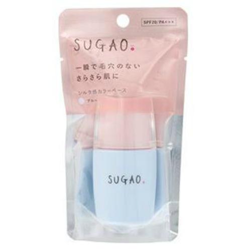 【送料無料・まとめ買い×36個セット】ロート製薬 SUGAO シルク感 カラーベース ブルー 20ml 1個