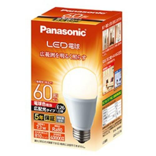 【送料込・まとめ買い×10個セット】パナソニック LED電球 電球色 60形 相当 E26口金 広配光タイプ 1個入 LDA7LGEW 1個