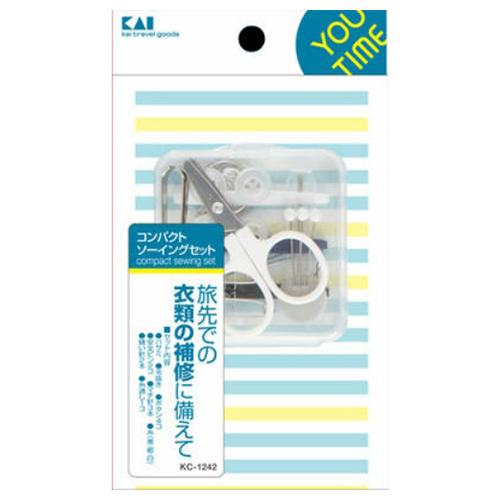 【送料込・まとめ買い×240個セット】貝印 KC1242 ユータイム コンパクトソーイングセット 1個入 1個