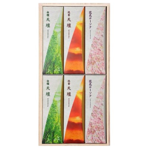 【送料込・まとめ買い×20個セット】日本香道 天壇 進物3000° 桐箱 包装品 1セット 6箱入 1個
