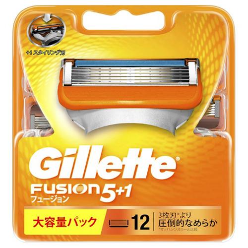 【送料込・まとめ買い×20個セット】ジレット フュージョン 5+1 替刃 12個入 1個