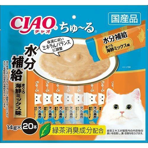 【送料込・まとめ買い×16個セット】いなば CIAO チャオ ちゅ~る 14g×20本 水分補給 まぐろ 海鮮ミックス味 1個