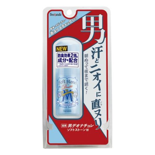 【送料込・まとめ買い×48個セット】 シービック 薬用 男デオナチュレ ソフトストーンW 20g 1個