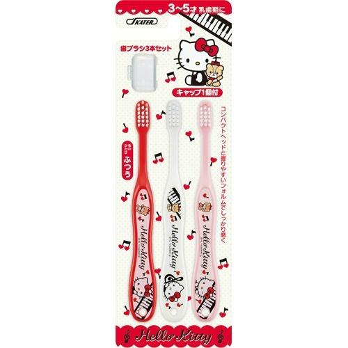 【送料込・まとめ買い×240個セット】スケーター 子ども歯ブラシ 園児用 キャップ付 ハローキティ音符 TB5T (1セット) 1個