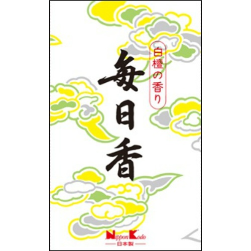 【送料込・まとめ買い×100個セット】日本香堂 毎日香 短中把 5入 1個