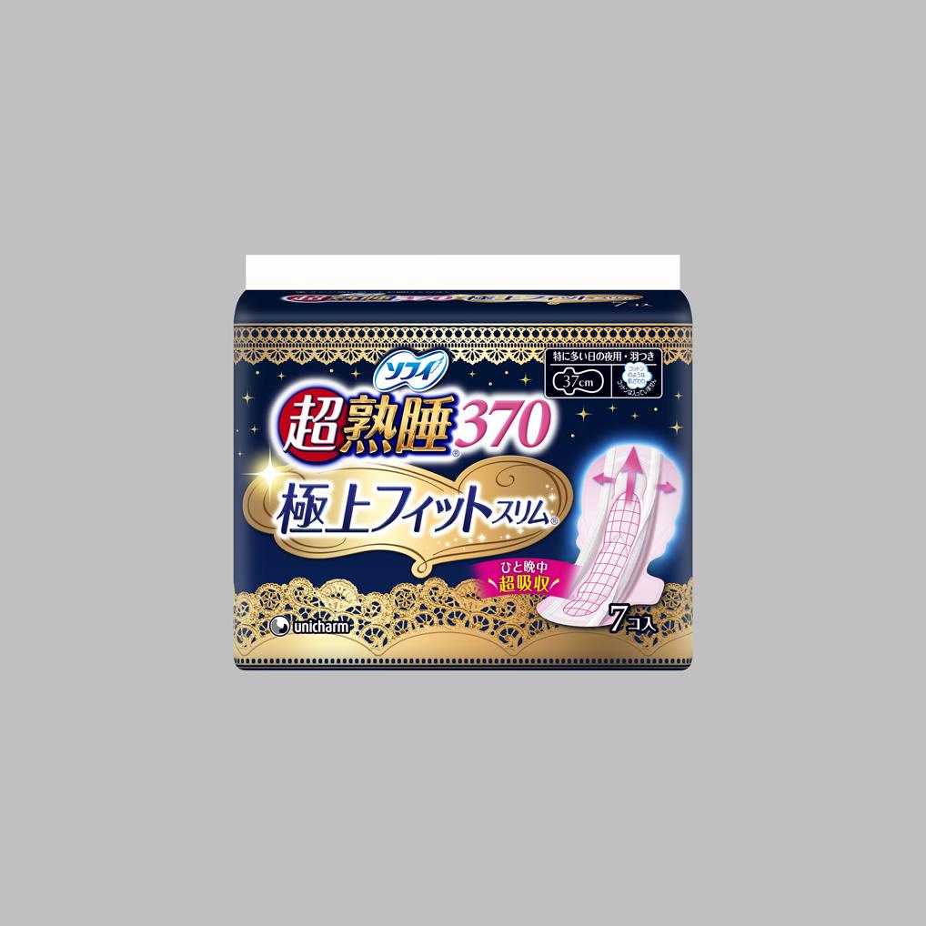 【まとめ買い】【ユニ・チャーム】【ソフィ】ソフィ超熟睡極上フィットスリム370 7枚【7枚】 ×24個セット