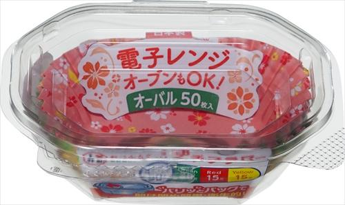 【送料込】 東洋アルミ おべんとケースプチフラワー オーバル 50枚入 ×150個セット