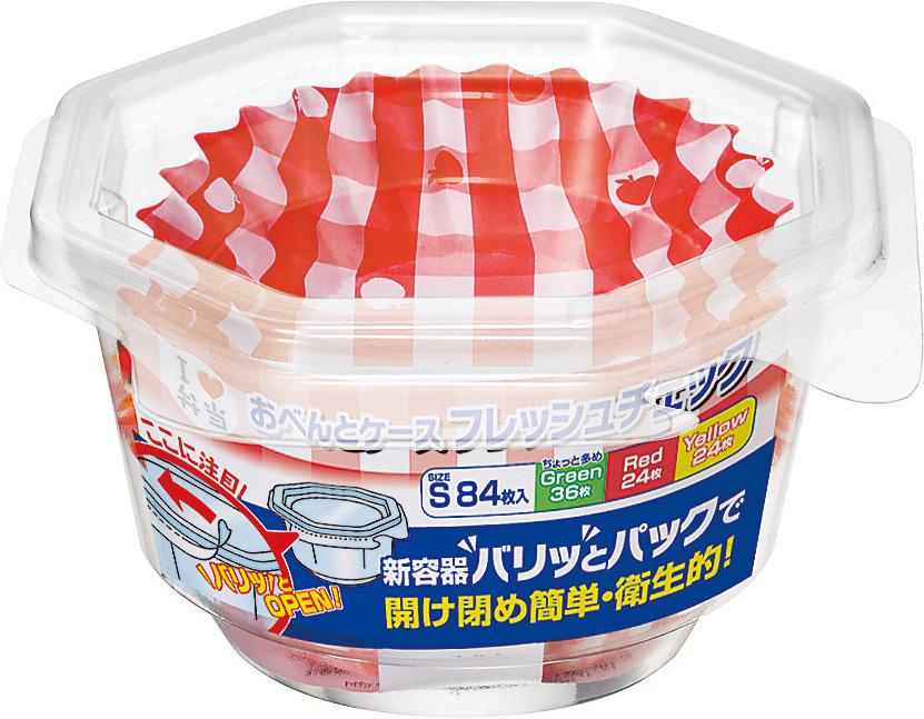 東洋アルミ おべんとケース フレッシュチェック S 84枚入 ×150個セット