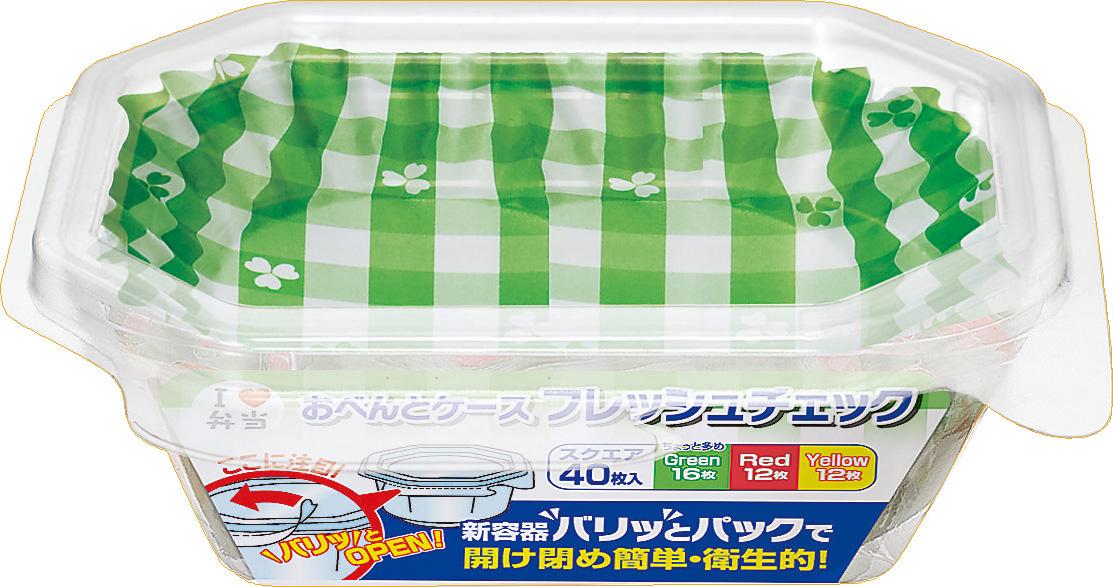 【送料込】 東洋アルミ おべんとケース フレッシュチェック スクエア 40枚入 ×150個セット