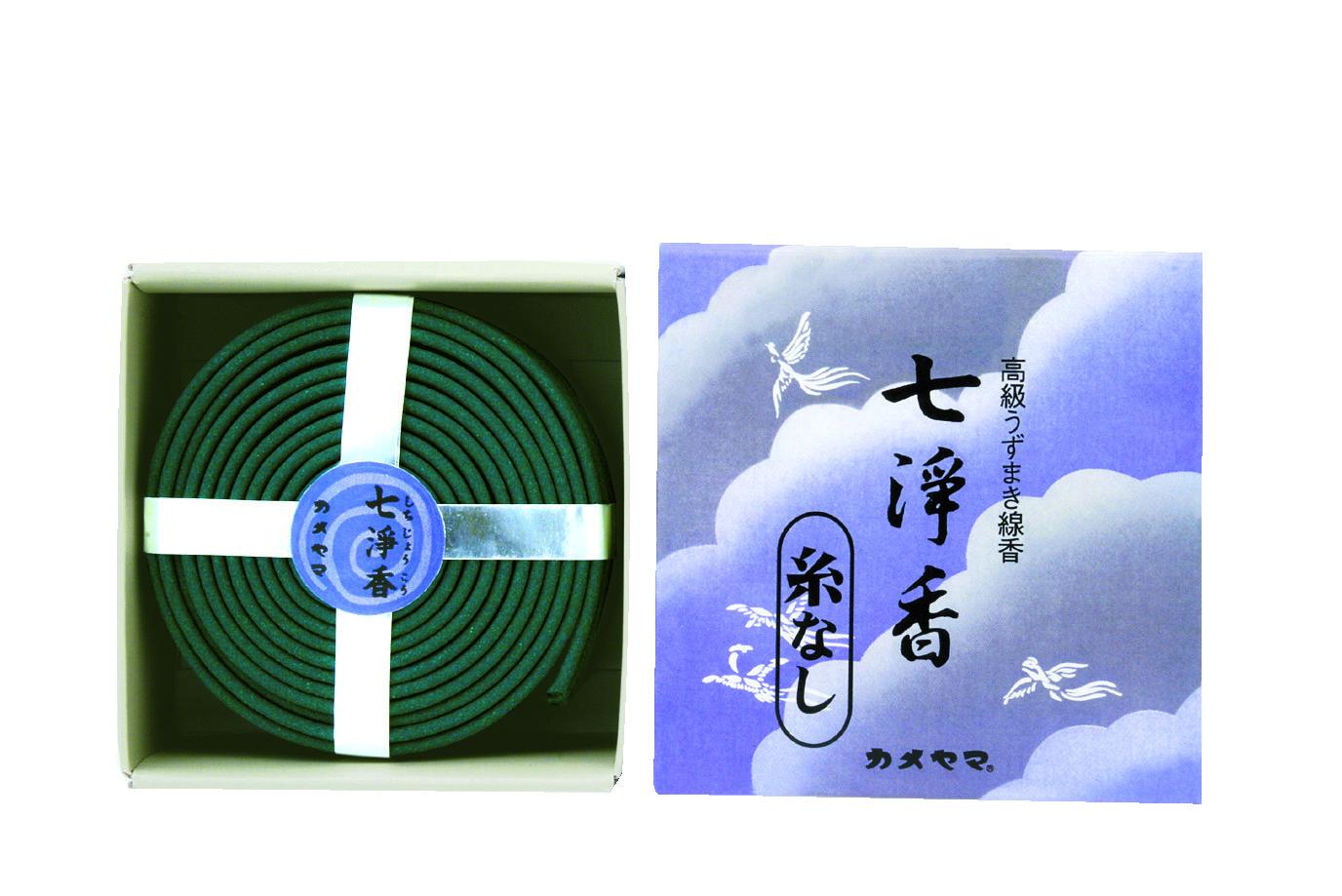 カメヤマ 七浄香 渦巻線香 14巻 ×60個セット