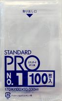 日本サニパック 規格袋 1号 L-01 透明 0.030mm 100枚入 ×120個セット
