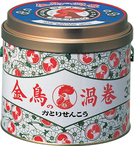 【まとめ買い】【大日本除虫菊・金鳥】金鳥の渦巻き 30巻缶入り ×24個セット